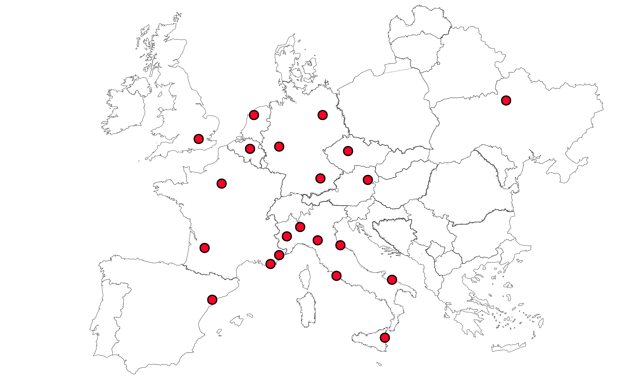 europa con punti